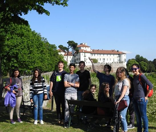 Gruppo studenti a Masino