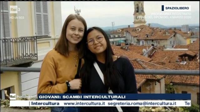 Liv e Ally a Ivrea - fotogramma da trasmissione RAI3