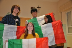 Ragazzi stranieri tricolori