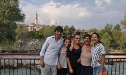 Silvia con la sua nuova famiglia